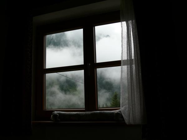 nebbia dalla finestra